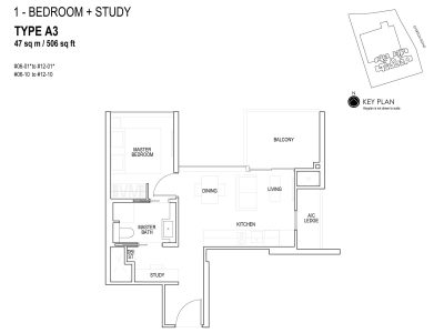 sky-everton-floor-plan-1-bedroom-+-study-a3-singapore