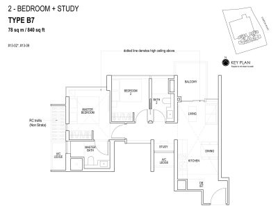 sky-everton-floor-plan-2-bedroom-+-study-b7-singapore